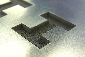 ファイバーレーザ加工機|深彫りマーキング
