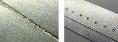 パルスファイバーレーザ溶接機|アルミ溶接サンプル